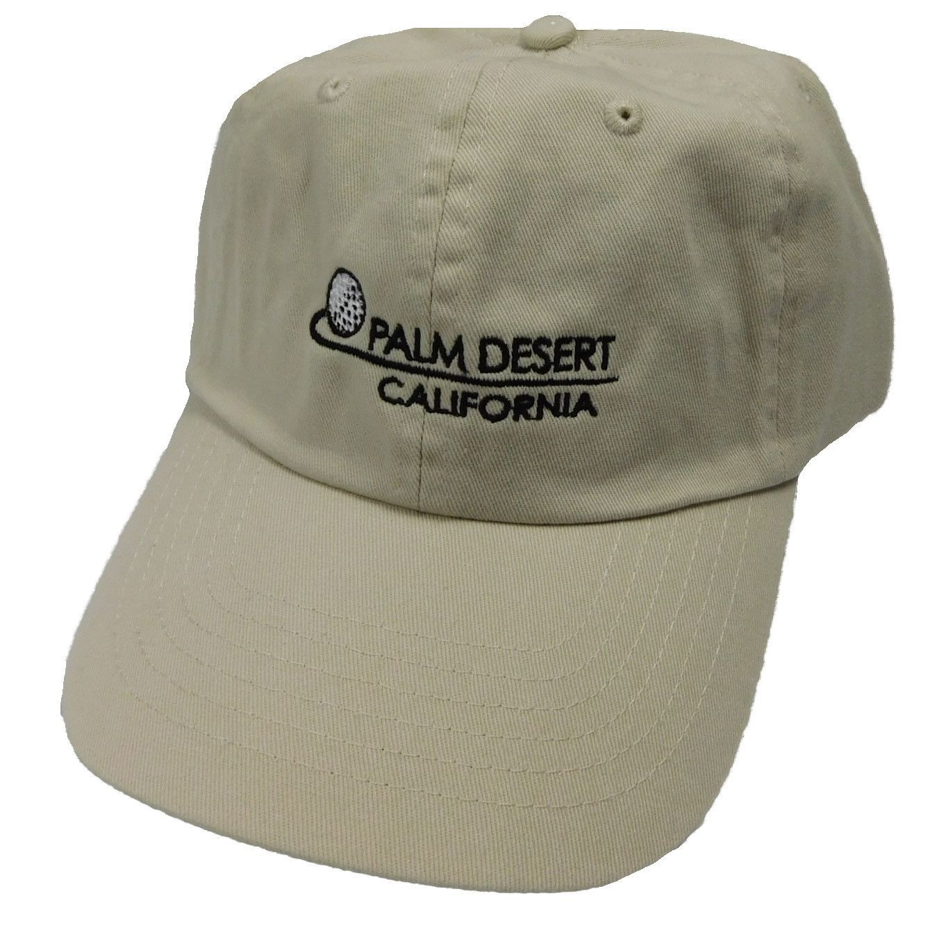 DPC Unstructured Twill Cap with PALM DESERT  bd4a69fe6ec0