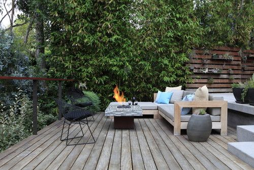 MTLA- Mark Tessier Landscape Architecture; modern patio; firepits;  modern outdoor furniture; wood deck