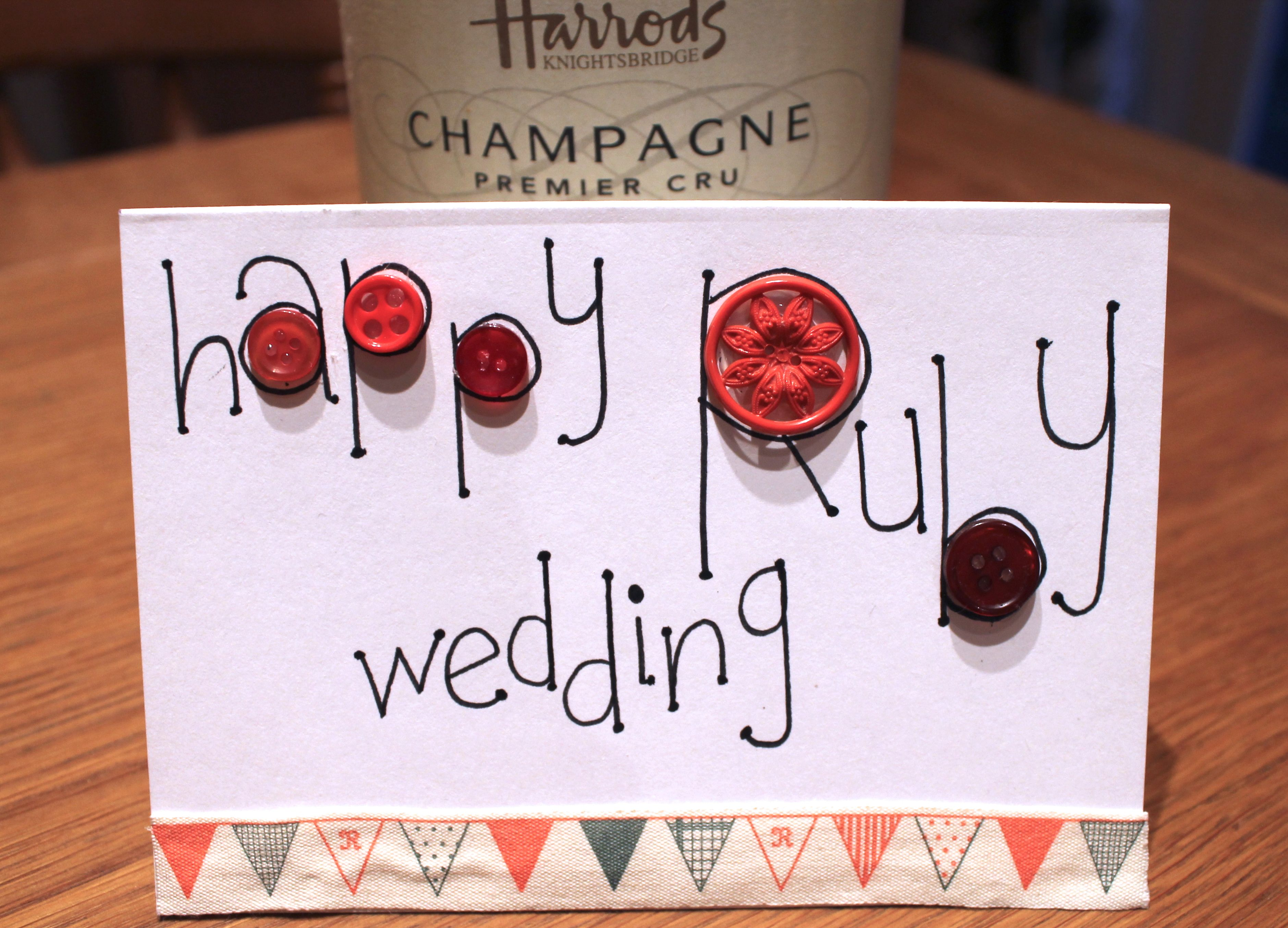 My Ruby Wedding Card For Jeff Anniversary Cards Wedding