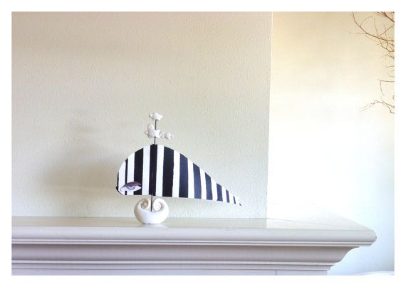 Stylized Sailboat Striped Fish Sculpture Home by BuginaBootiga, $50.00