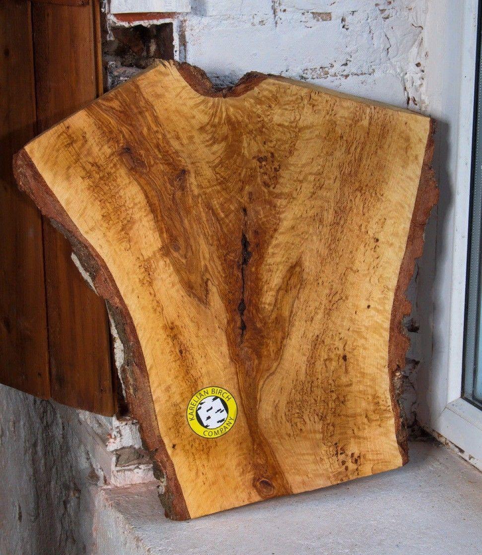 Karelian Birch Wood Coffee Table Super Blank Cupboard Dish