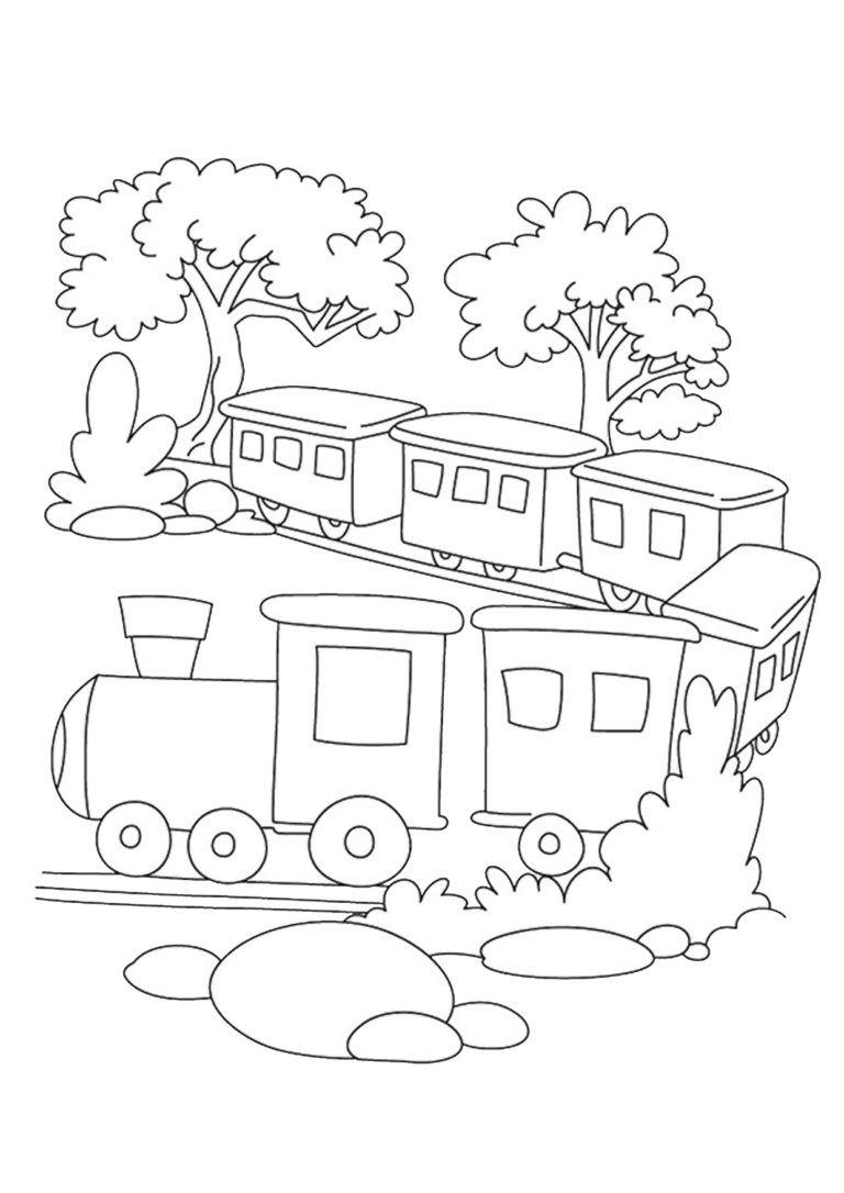 45 Disegni Di Treni Da Colorare Pagine Da Colorare Per Bambini Disegno Di Elefante Disegni