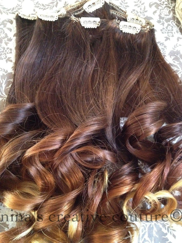 Ombre Hair Extensionreverse Ombre Dark Brown Warm Caramel Blonde