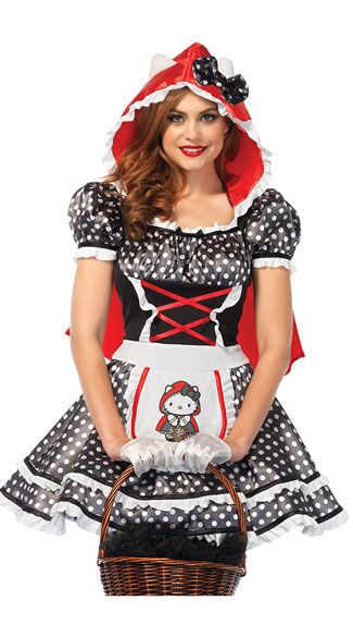 edcaf61b4f3 Hello Kitty Red Riding Hood Costume