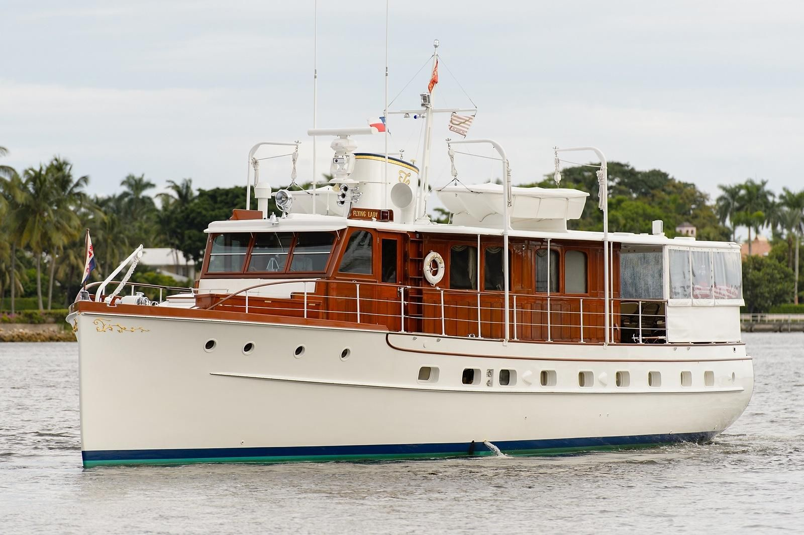 1937 Trumpy Mathis House Boat Power Boat For Sale Www Yachtworld