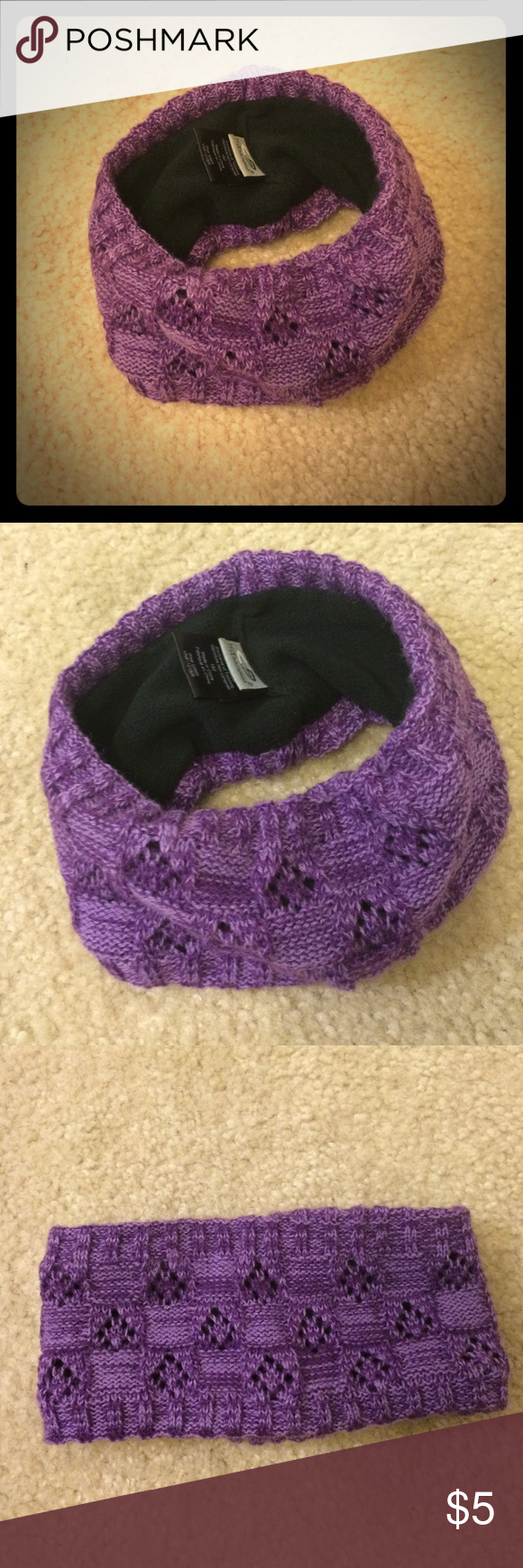 C9 Winter Headband Purple sweater headband with black fleece lining. Champion Accessories Hair Accessories