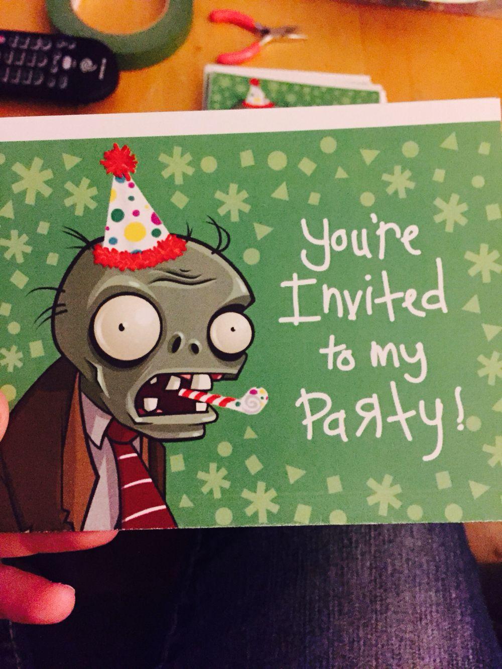 Made My Own Plants Vs Zombies Birthday Invitation For Kamden