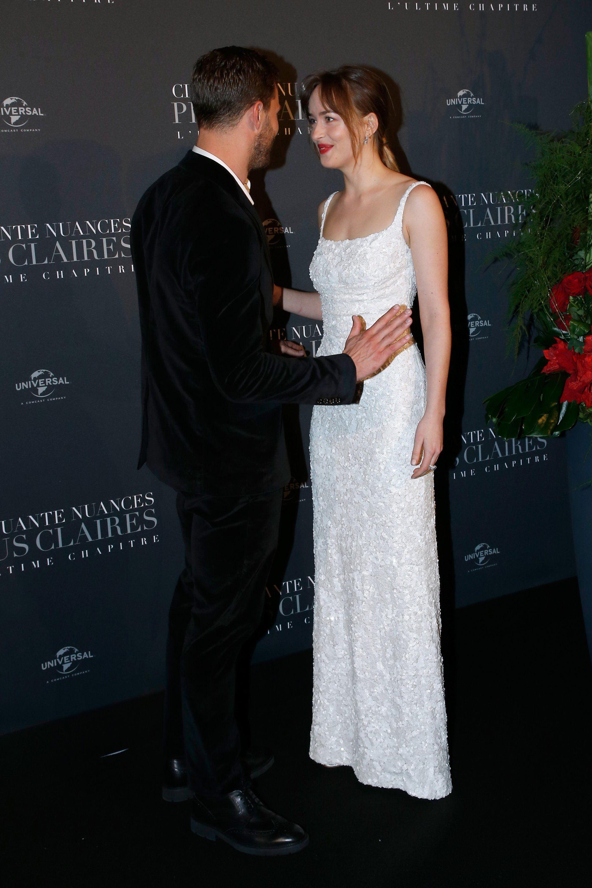Is It Just Us Or Do Jamie And Dakota Look Like They Re About To Get Married At Their Premiere Christian Gray Fifty Shades Wedding Attire Guest 50 Shades Freed [ 3072 x 2048 Pixel ]