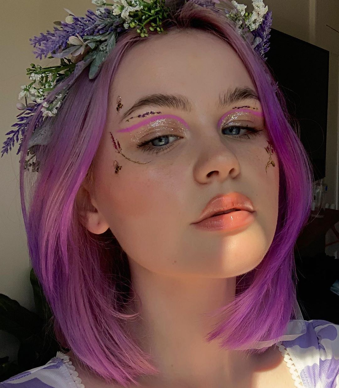 Ellie Addis On Instagram I Dyed My Hair Purple And Its Kind Of Patchy But Its Fine Bc Im Dyeing It A Different Colour In Like In 2020 Dye My Hair