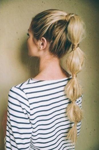 Fryzura Na Imprezę Wybierz Bubble Ponytail Włosy W 2018