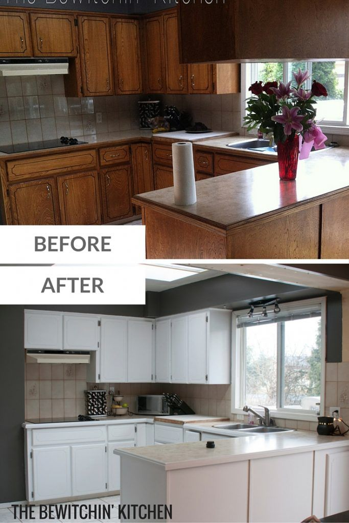 Painting Kitchen Cabinets Transforming Dated 1970s Oak Cupboards