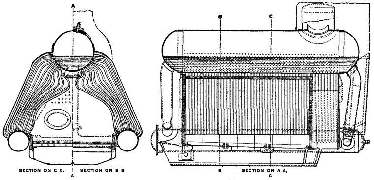 u0026quot a u0026quot  type water tube boiler diagram