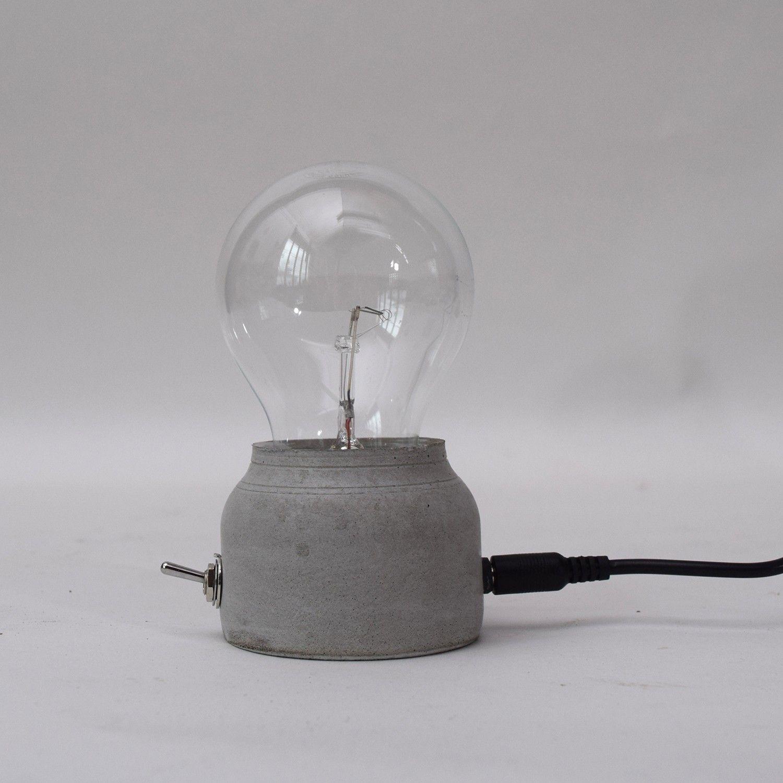 Concrete Base LED Lamp - Original