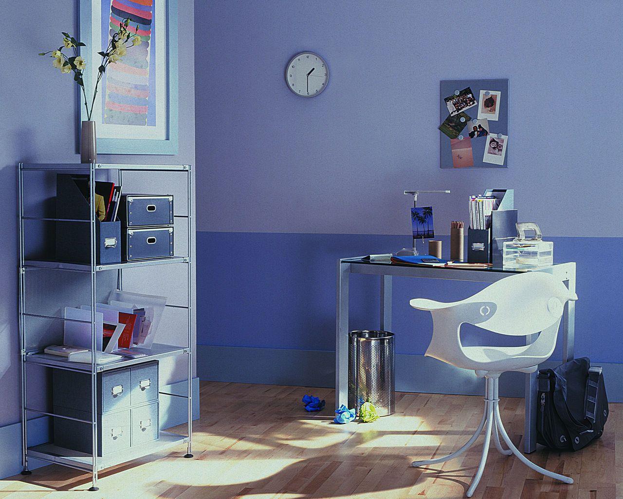 peinture bureau d co gris violet dulux valentine bureau office bureau decoration. Black Bedroom Furniture Sets. Home Design Ideas