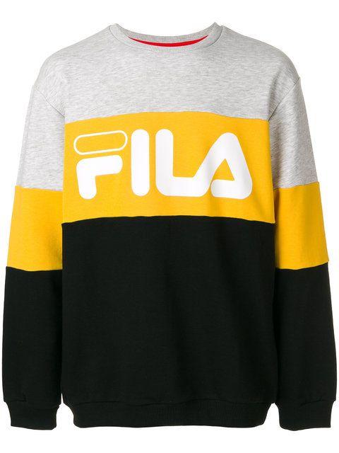 Fila logo colour block sweatshirt | Ropa de calle, Ropa