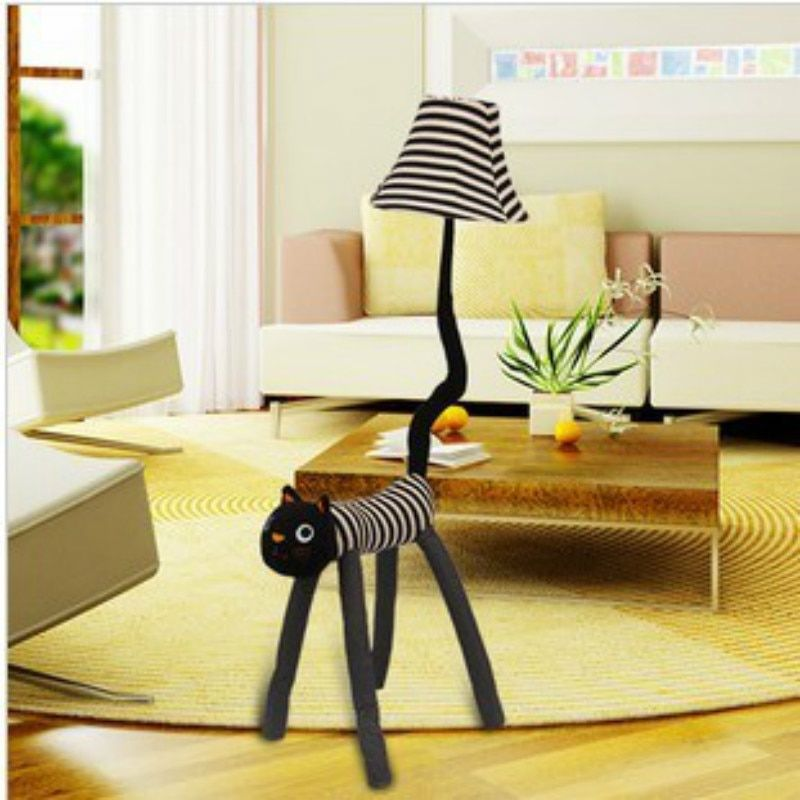 Good Chance For Carton Animal Cat E27 Dimmer Floor Lamp With