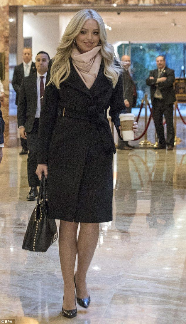 Wrap up in Tiffany's  Ivanka Trump coat for winter. Click 'Visit' to buy now. #DailyMail