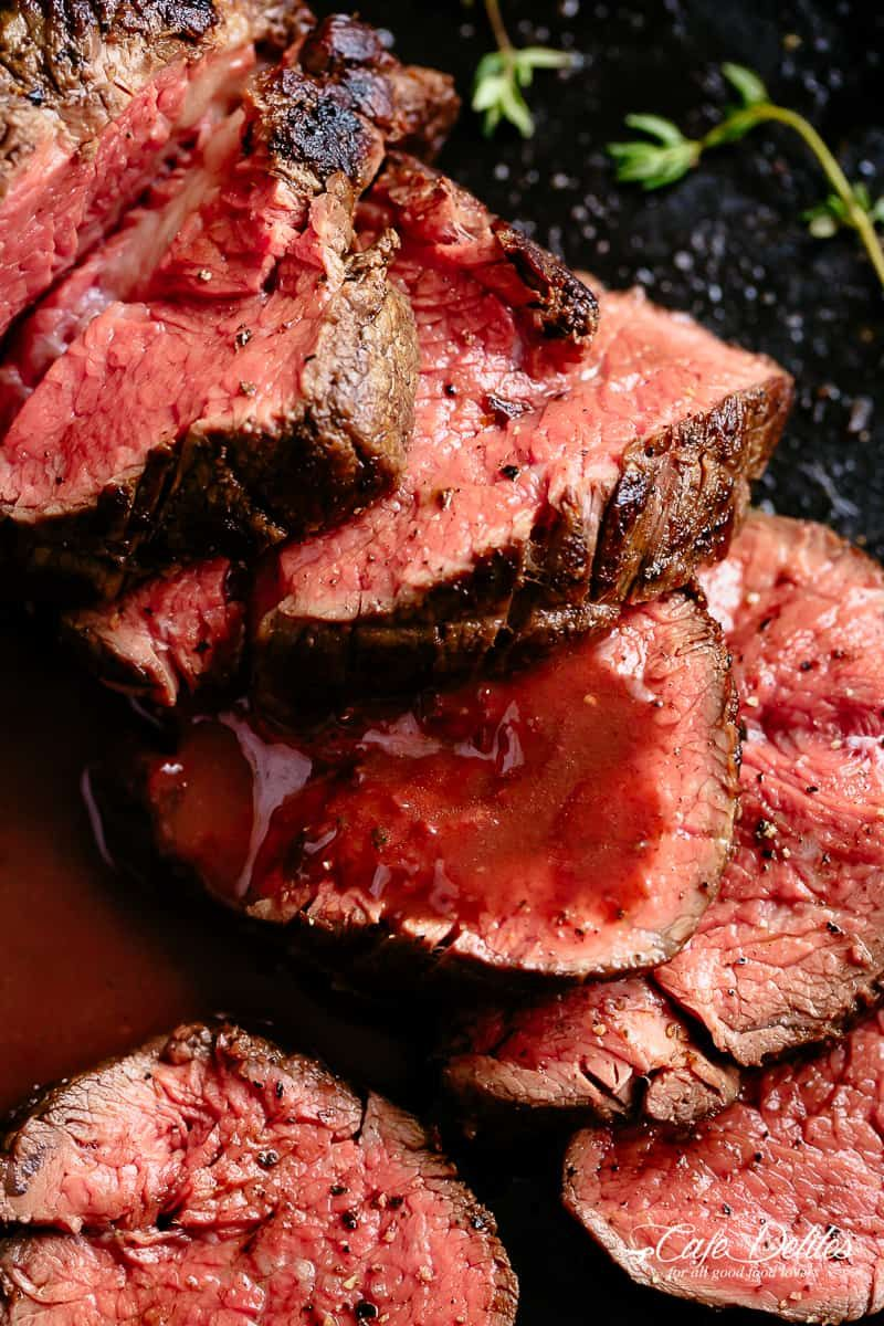 The Best Juicy Roast Beef Tenderloin Slathered With A Delicious Garlic Butter Serve With An Opt Roast Beef Recipes Beef Tenderloin Recipes Tenderloin Recipes