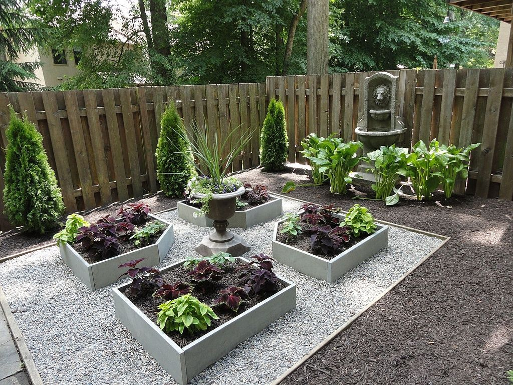 Maximize a small outdoor area by adding raised beds and a