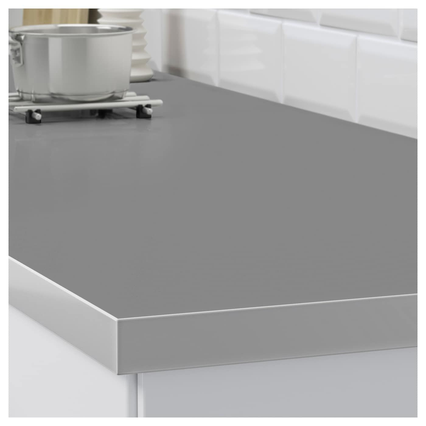 Hallestad Countertop Double Sided White Aluminum Effect Metal