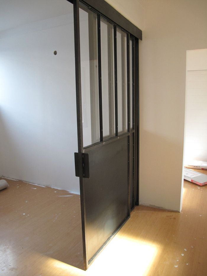 S paration vitr e avec porte coulissante porte verriere type atelier pinterest porte - Porte de separation vitree ...