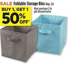 Foldable Storage Bins From Dollar General 4 00 Storage Bins Bins Foldables
