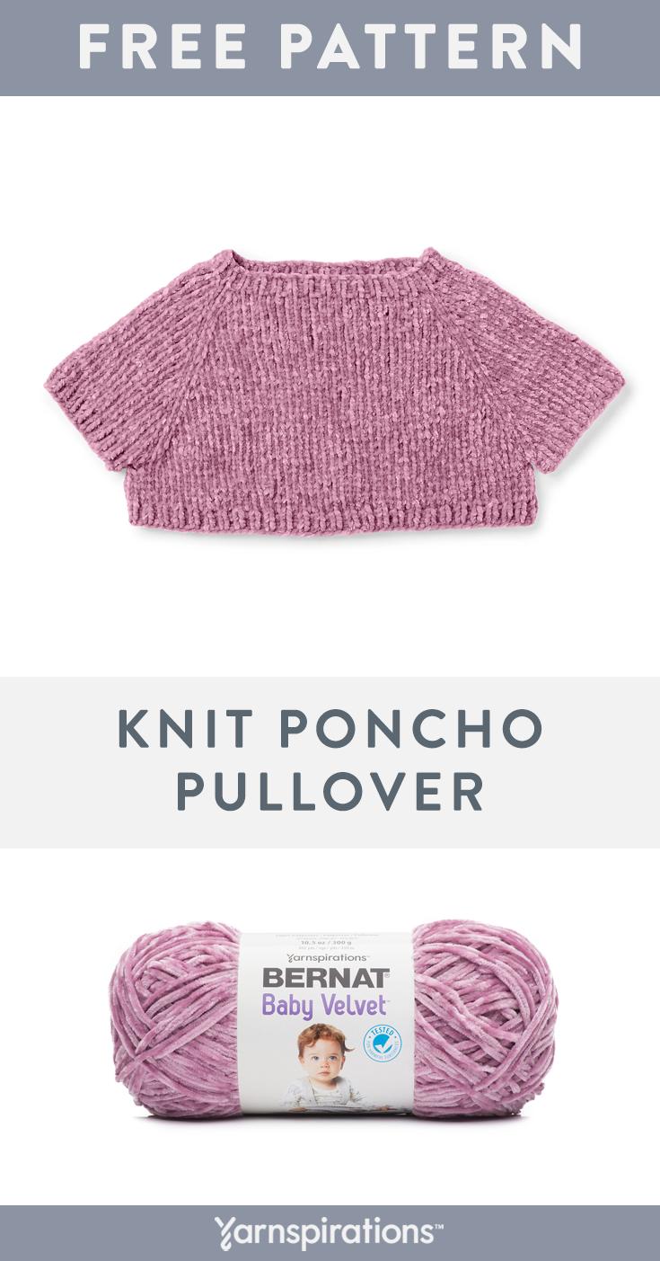Bernat Baby Velvet Yarn Pattern | Knit this cute Baby Poncho