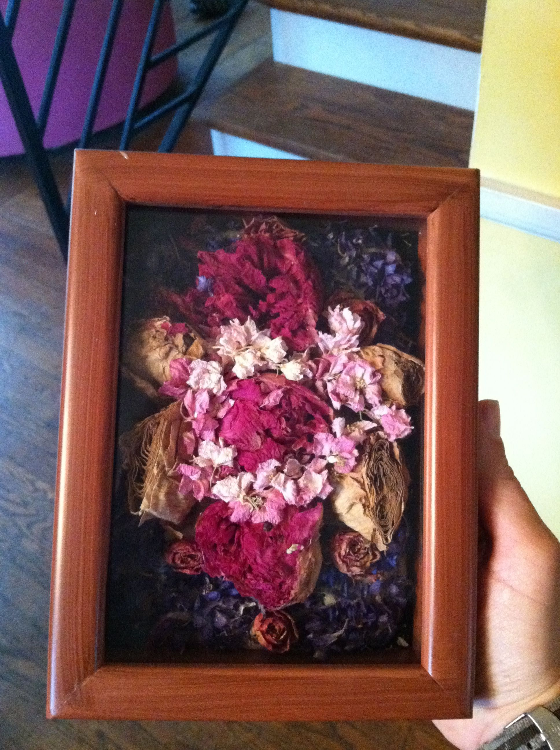 1st Anniversary Gift From Husband He Took My Wedding Bouquet Which