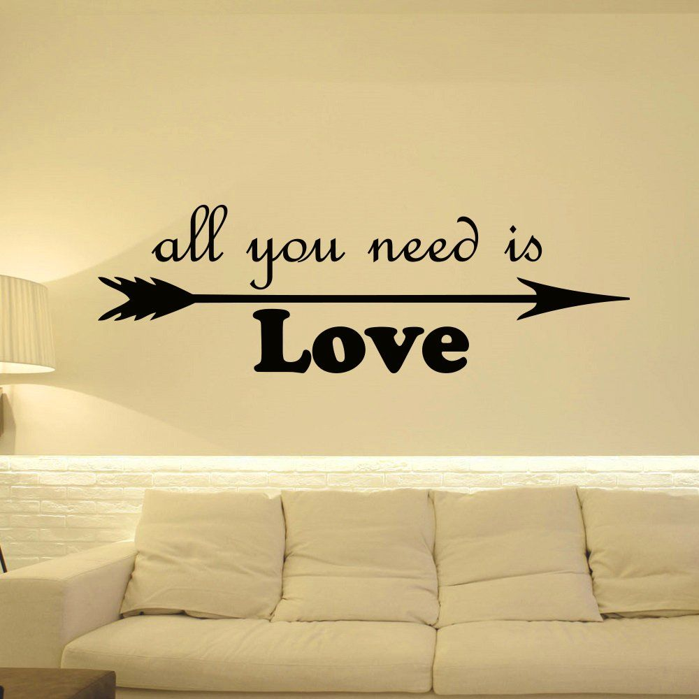 Arrow Wall Decal Quote Vinyl Stickers All You Need Is Love Wall Art ...