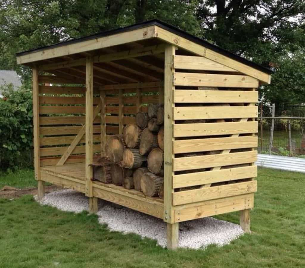 Backyard Firewood Storage Shed