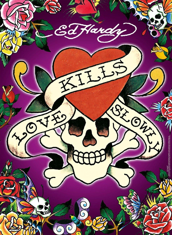 Ed Hardy Love Kills Slowly Ed Hardy Tattoos Ed Hardy Emoji Backgrounds