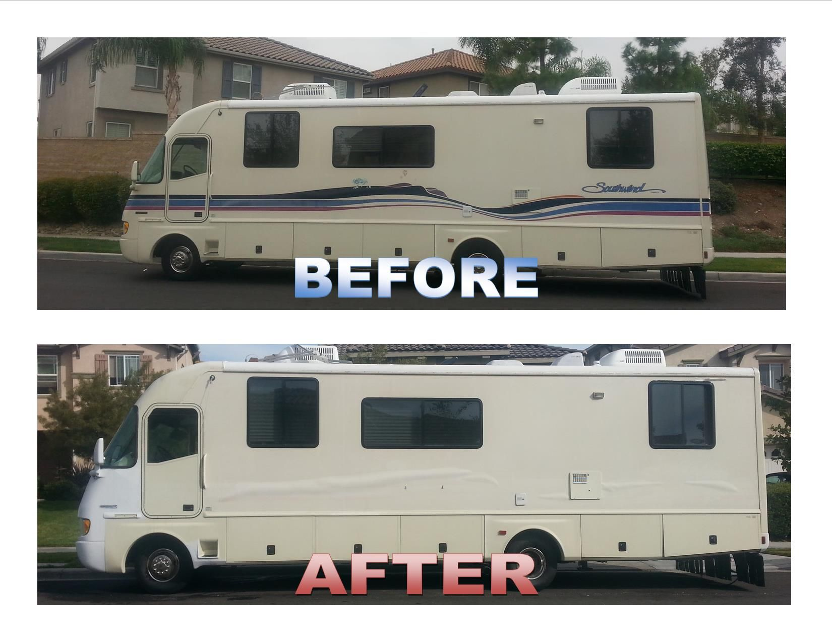 Rv Paint Job With Less Than 2 Gallons Of Rustoleum Only 50 Elbow