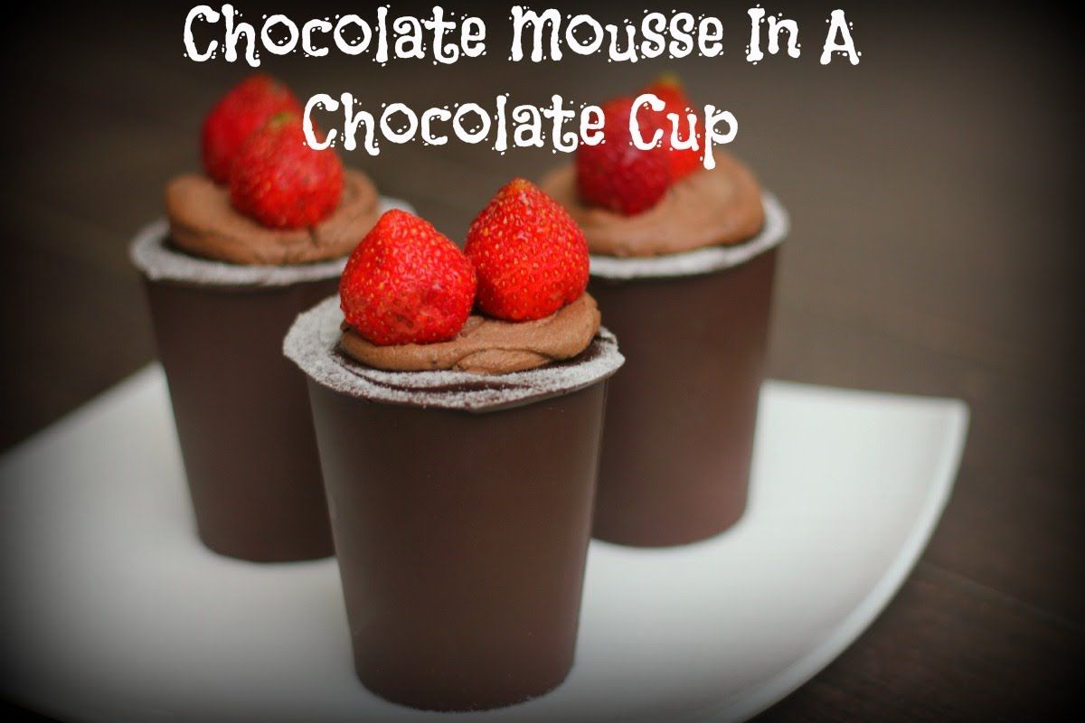 EGGLESS EASY CHOCOLATE MOUSSE IN CHOCOLATE CUPS!!!EPI:52