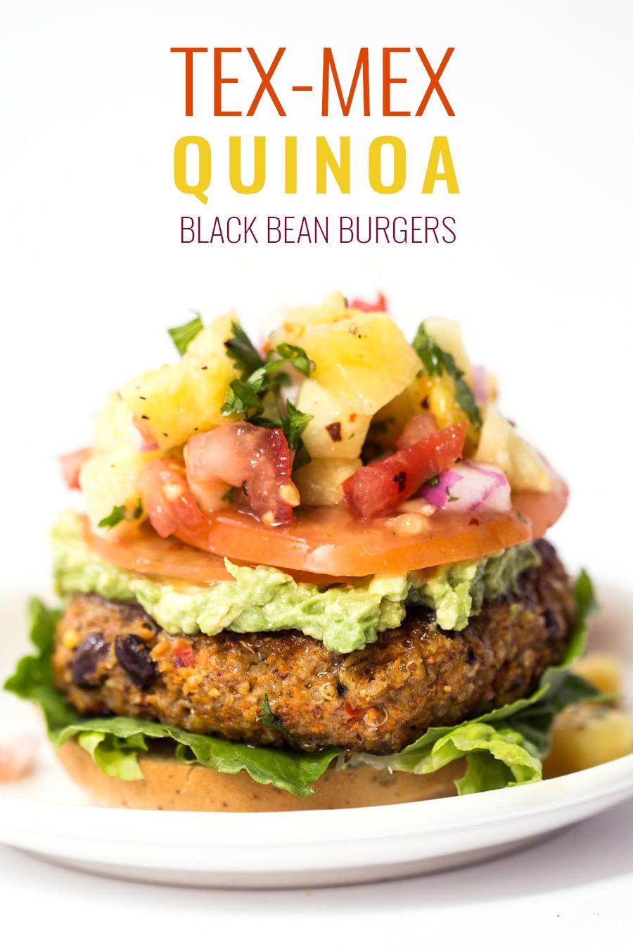 Tex Mex Quinoa Burger Recipe Simply Quinoa Recipe Quinoa Burgers Quinoa Burger Recipe Burger Recipes