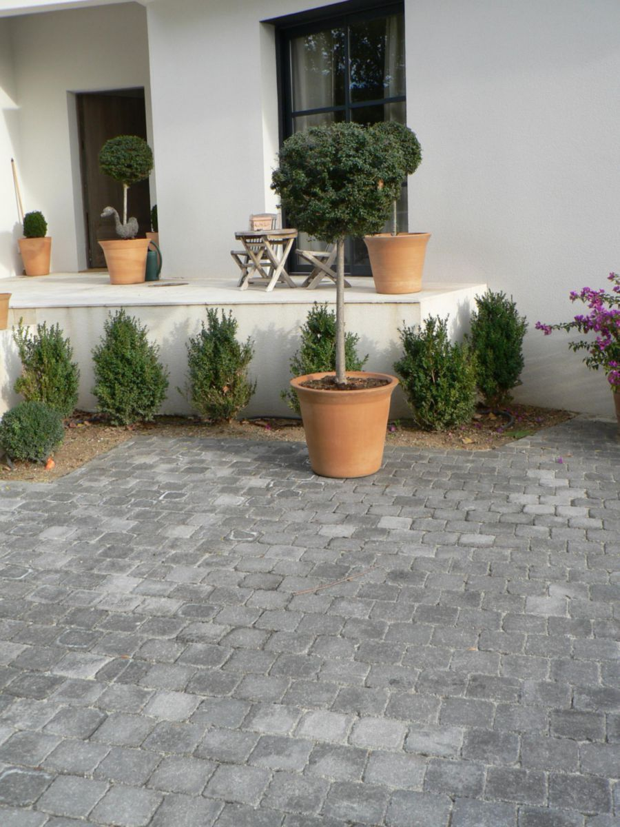 Marlux Alkern Pave Carrossable Duo Gris Granit Aspect Vieilli 12x12 Ep 6 Cm Point P Pave Carrossable Paves Exterieur Terrasse Pave