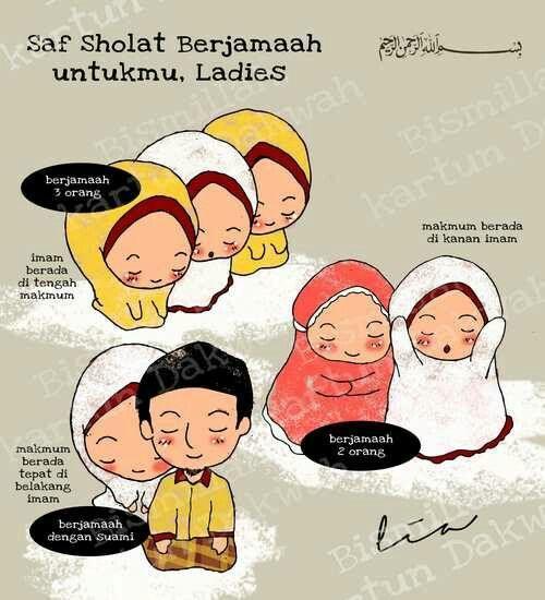 Saf Sholat Untuk Wanita Kartun Dakwah Pinterest Islam