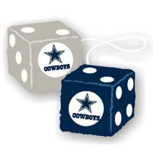 Dallas Cowboys NFL 3 Car Fuzzy Dice
