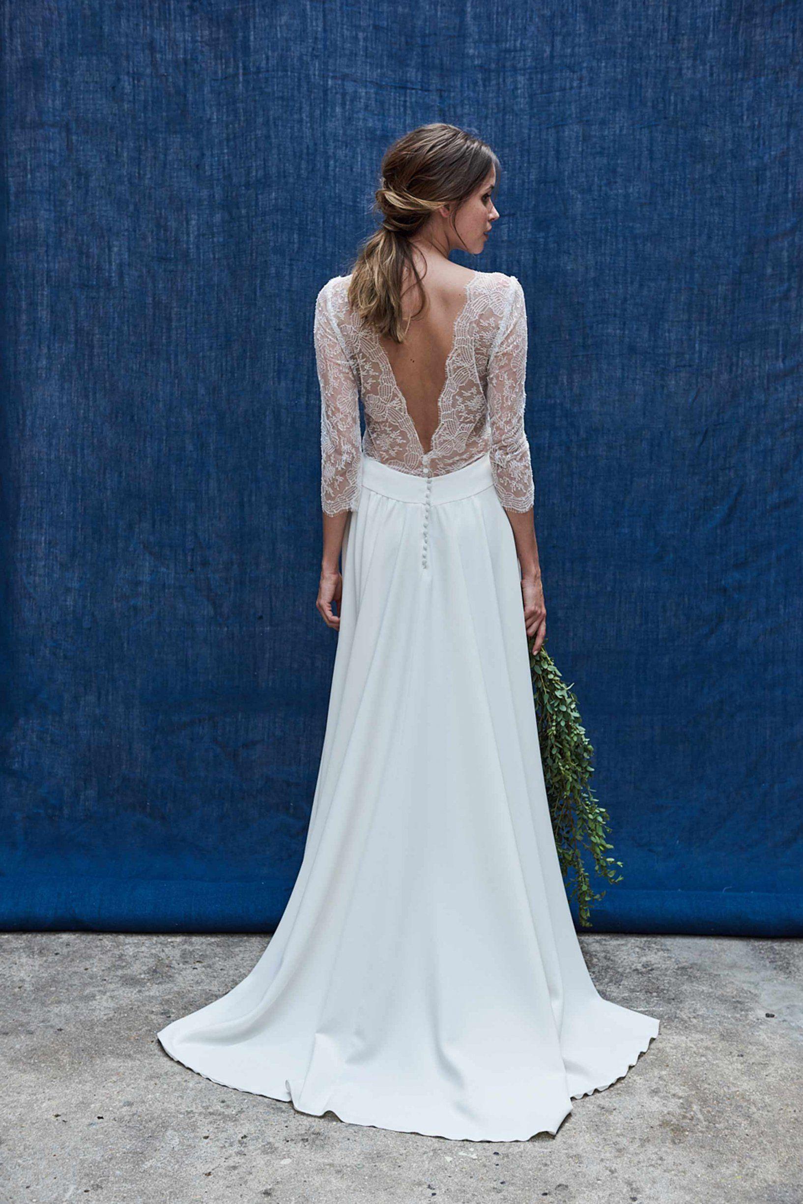 Robe de mariée 2018 : une robe fluide au