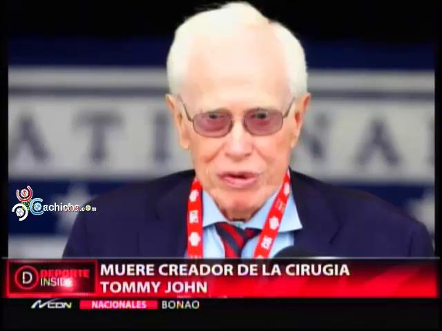 Muere Creador De La Cirugia Tommy John #Video