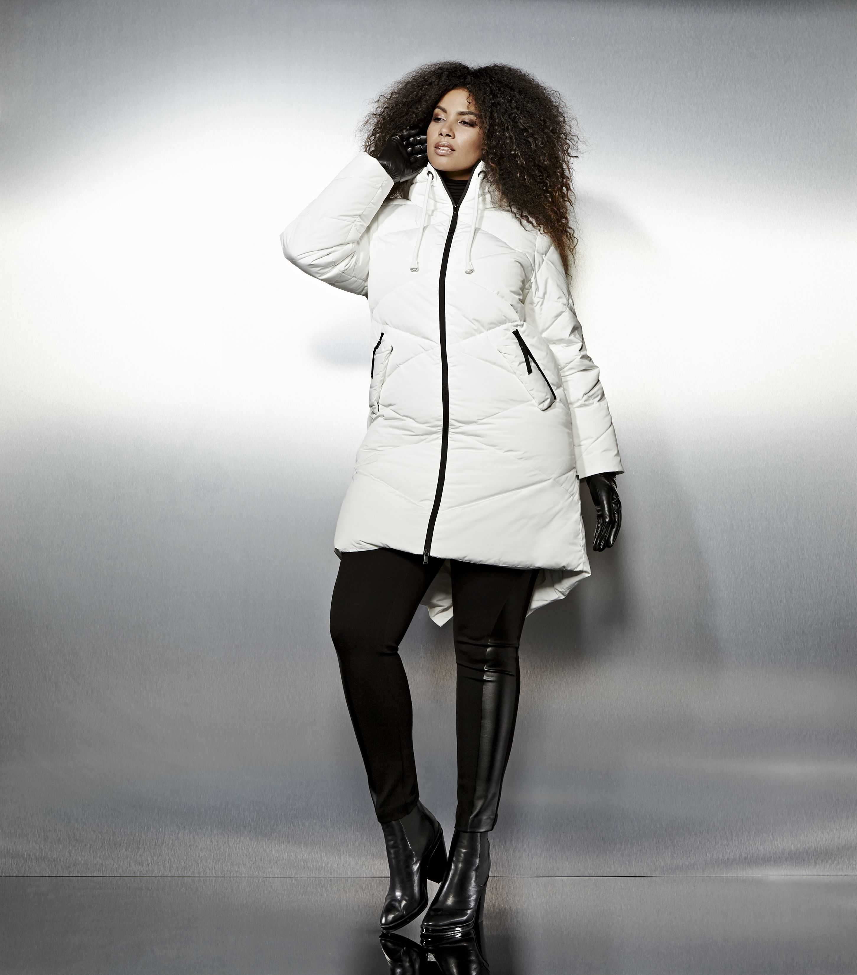 Livik Quilted Hooded Puffer Coat Plus Size Coats Plus Size Outfits Plus Size Outerwear [ 3300 x 2902 Pixel ]