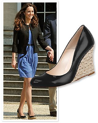 8d612ff25a2 Kate Middleton s Black Wedges  Where to Find Them!