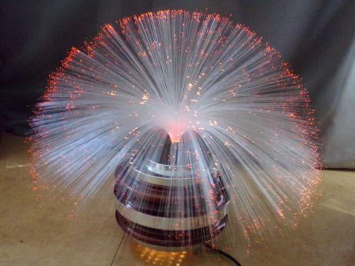 Lampe Fibre Verre Optique Tournante Fiber Optic Lamp 70 S Vintage