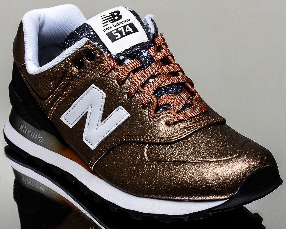 new balance 574 femme noir et bronze