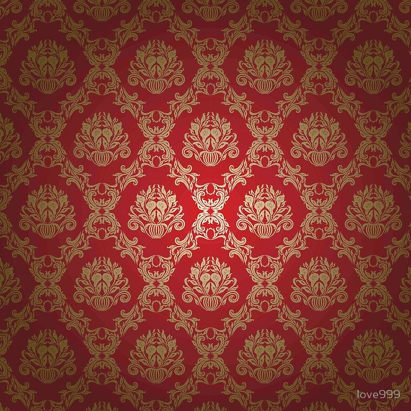 Damask Royal Deep Red Gold Vintage Elegant Chic Formal Vintage Wall Paper Pattern Old Fashioned Modern Trendy Floor Pillow By Love999 In 2021 Red And Gold Wallpaper Gold Damask Wallpaper Red Wallpaper