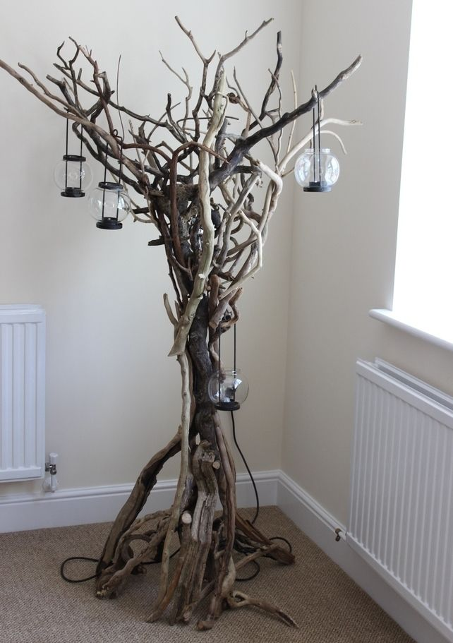 Wooden Floor Lamp Driftwood Furniture | Driftwood | Pinterest ...