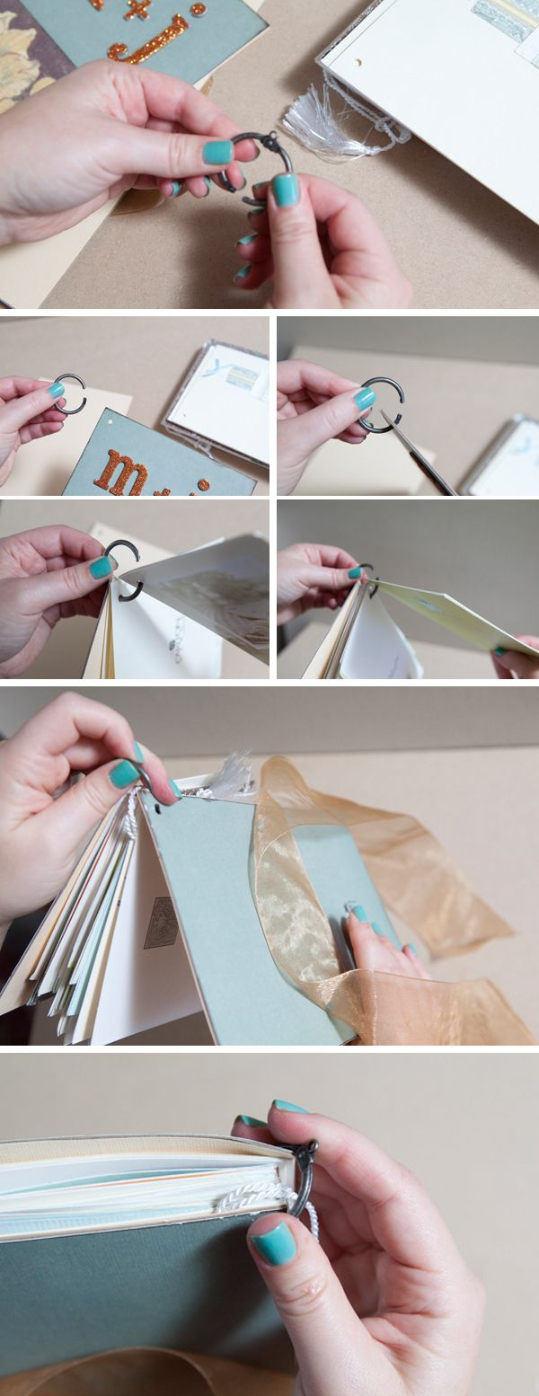 How to diy an adorable album to save special greeting cards album