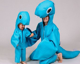 loch ness monster family nessie halloween costumes for mama or daddy and baby guaranteed halloween delivery within the us
