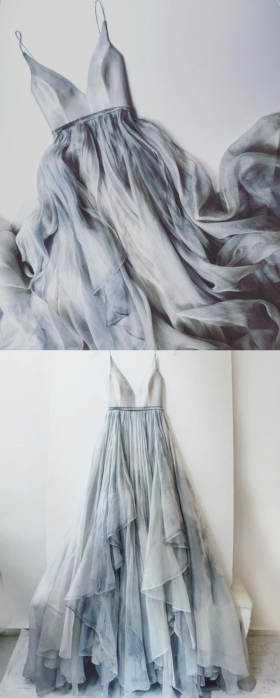 Spaghetti Straps Prom Dresses, V-neck Prom Dress, Long Prom Dress, Senior Prom Dress, Formal Women Dresses, Prom Dress