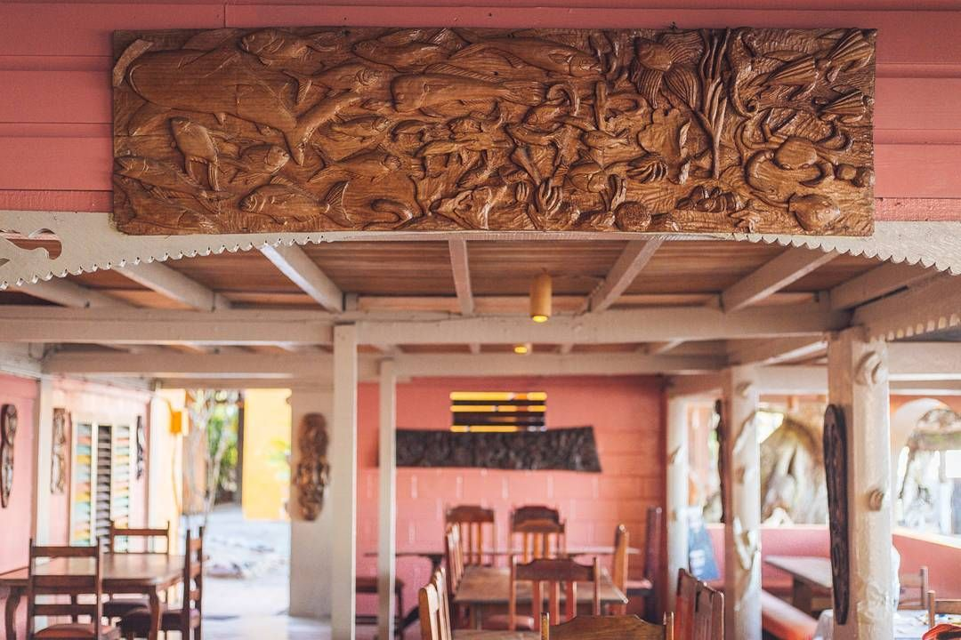 Dining room details many of the carvings that adorn the