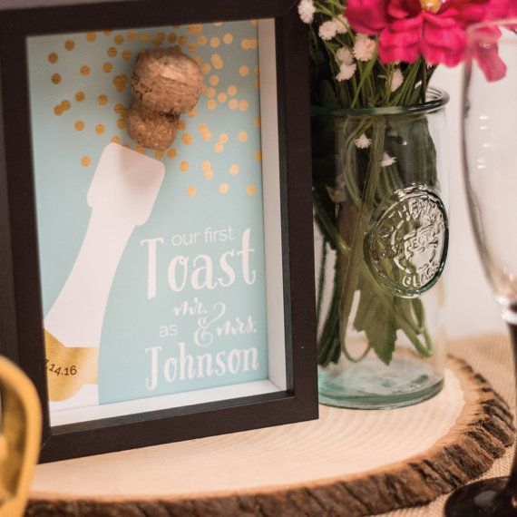 First Toast Keepsake Wedding Gift Diy Digital By Paperramma Http